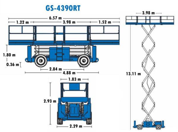 Ножничный подъёмник Genie GS 4390 RT