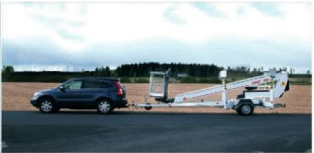 Аренда прицепного телескопического подъёмника Dinolift 180 T