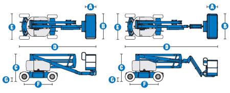 Коленчатый подъёмник Genie Z-45\25J DC