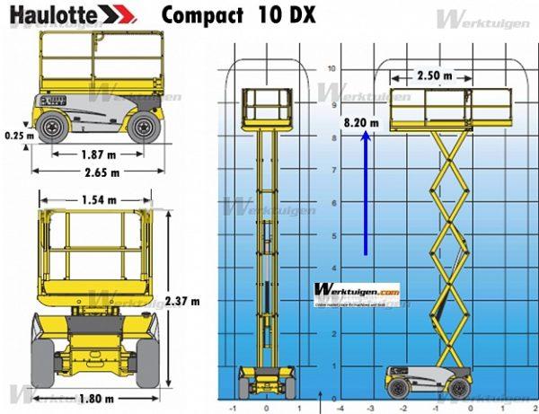 Ножничный подъёмник Hаulоttе Соmраct 10 DX