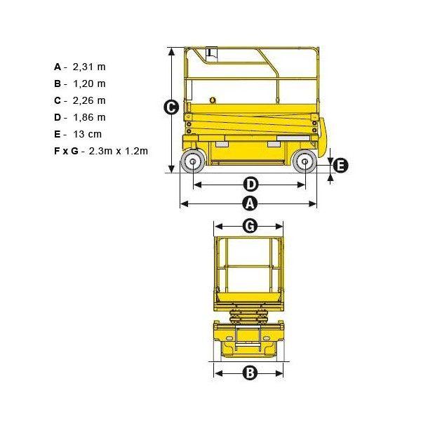 Подъёмник ножничный Haulotte Compact 10