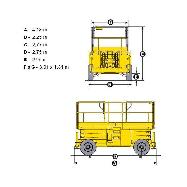 Ножничный подъёмник Haulotte H 15 SX