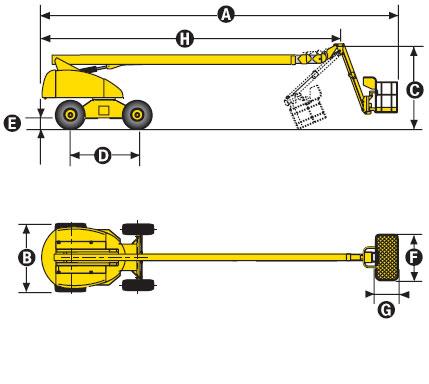 Телескопический подъёмник Haulotte H 23 TPX