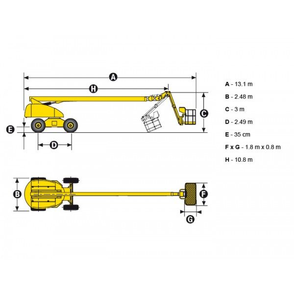 Телескопический подъёмник Haulotte H 25 TPX