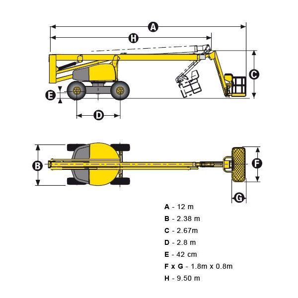 Коленчатый подъёмник Haulotte HA 260 PX