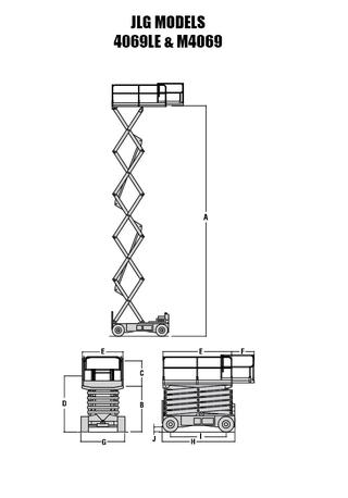 Ножничный подъёмник JLG 4069 LE