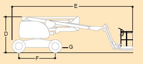 Подъёмник коленчатый JLG 510 AJ