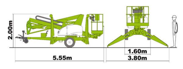 Прицепной коленчатый подъёмник Nifty 150 T