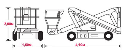 Коленчатый подъёмник Snorkel A38E (UpRight AB38N)